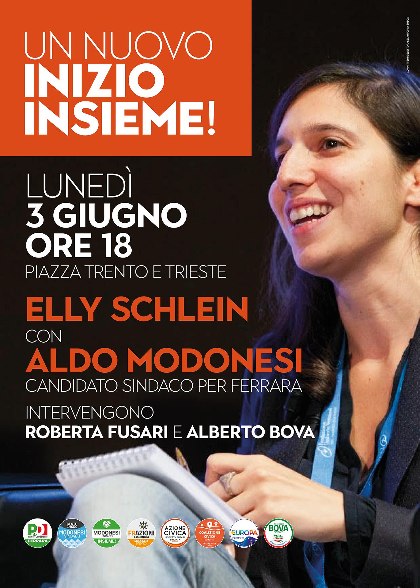 Elly Schlein A Ferrara
